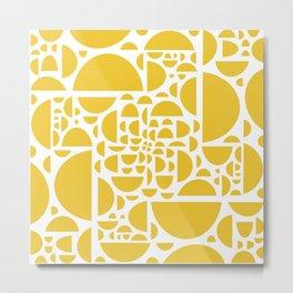 Mid Century Lemon Wedges  Metal Print
