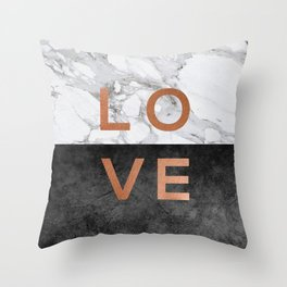 Love Copper Throw Pillow