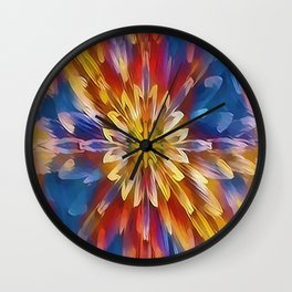 Color Flow Abstract Wall Clock