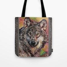 Portrait of a Gray Wolf Tote Bag