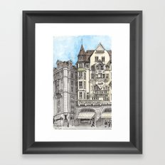 Downtown Basel, Switzerland Framed Art Print