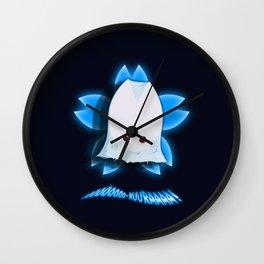 ooooOOOOO-KUURAAAA! (Blue) Wall Clock