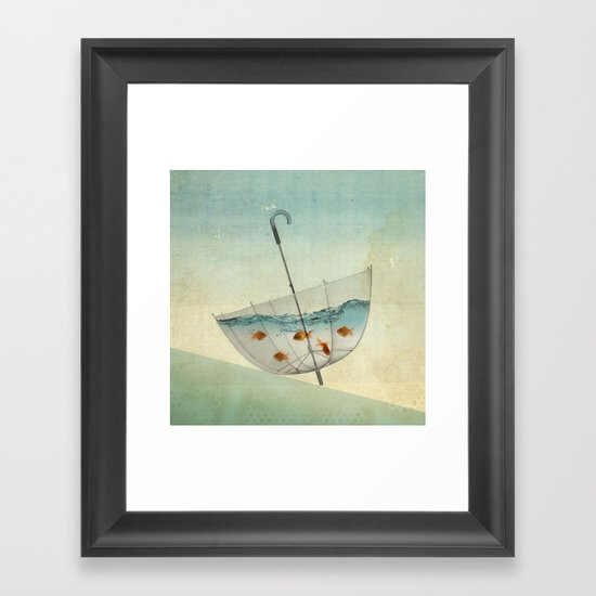 precarious position Framed Art Print