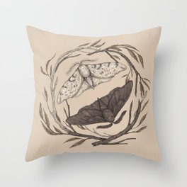 Peppered Moths Throw Pillow