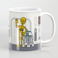 c3po Mugs featuring EP4 : C3PO & R2D2 by Jason Yang