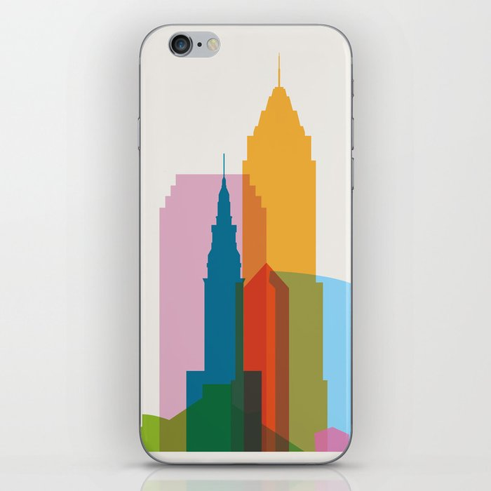 Shapes of Cleveland accurate to scale iPhone Skin