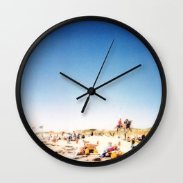 New York Summer at the Beach #1 Wall Clock
