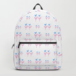 little flower 8 blue and pink Backpack