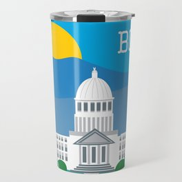 Boise, Idaho - Skyline Illustration by Loose Petals Travel Mug