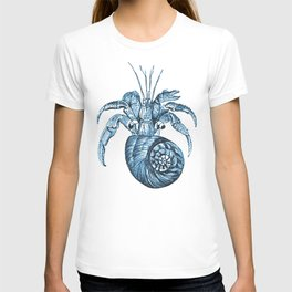 Fish nautical sea blue watercolor T-shirt