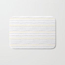 yellow and grey stripes Bath Mat