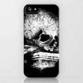 Skull on Pedestal iPhone Case