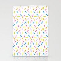 sprinkles Stationery Cards featuring Sprinkles by Vera Mota
