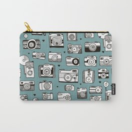 Smile action toy camera vintage photography pattern Carry-All Pouch