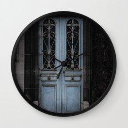 Gothic Door Cemetery Paris Wall Clock