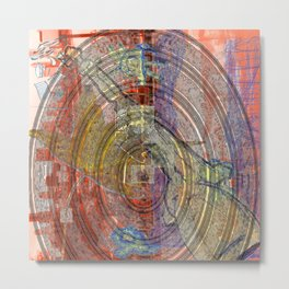Spin Up The Drives Metal Print