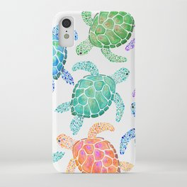 Sea Turtle - Colour iPhone Case