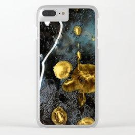 gold dark matter Clear iPhone Case
