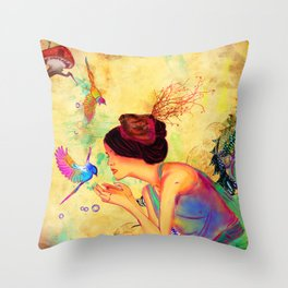 Sweet Content Throw Pillow