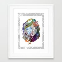 karen Framed Art Prints featuring Karen  by N_du_Time