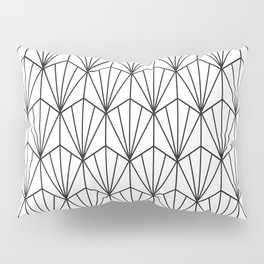 Art Deco Vector in Black and White Pillow Sham
