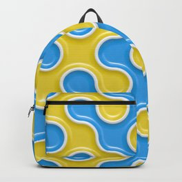 Yellow Blue Truchet Tilling Pattern Backpack