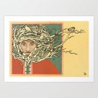 Tangled Eskimo Art Print