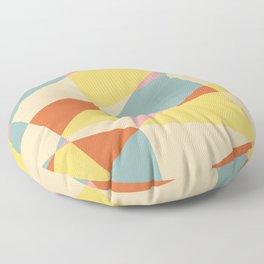 Warm summer colors geometric pattern Floor Pillow