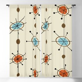 Atomic Era Satellites Blackout Curtain
