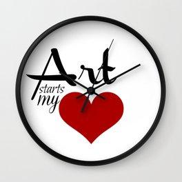 Art starts my (heart) Wall Clock