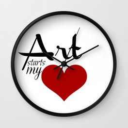 Art starts my (heart) Wall Clock