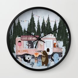 ice cream time Wall Clock