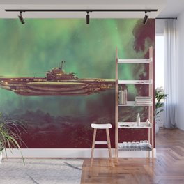 Golden Pirate Submarine Wall Mural