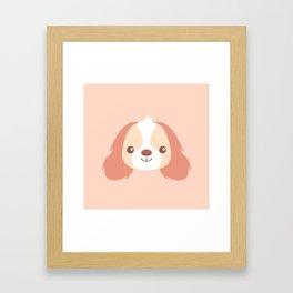 Cute long eared dogs Framed Art Print