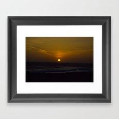 Sunset across the Ocean Framed Art Print