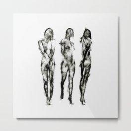 The Three Graces II Metal Print