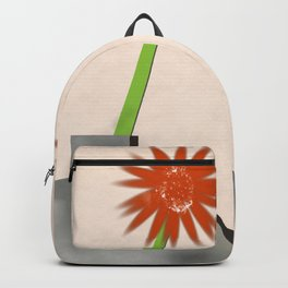 Four vases with two gerberas Backpack
