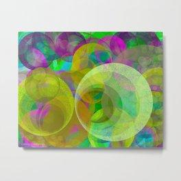 Circles of Fractals  Metal Print