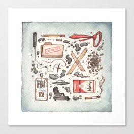 Collection of Ex Files Canvas Print