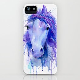 Watercolor Abstract Horse Portrait iPhone Case