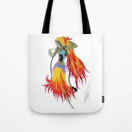 """1920's Art Deco Illustration """"Gypsy Dancer"""" Tote Bag"""