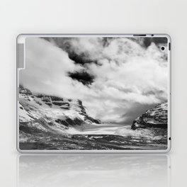 Mountains | Glaciers and clouds | Black and White | photography Laptop & iPad Skin