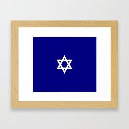 Star of David 7- Jerusalem -יְרוּשָׁלַיִם,israel,hebrew,judaism,jew,david,magen david Framed Art Print