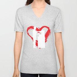 Barista Heart Unisex V-Neck