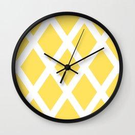Yellow Diamonds Wall Clock