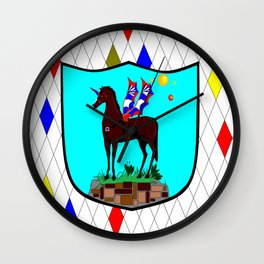 A Mechanical Winged Unicorn with Suns and comet Wall Clock