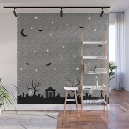 Spoopy Cemetery Print Wall Mural