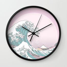 Great Wave Pastel Wall Clock