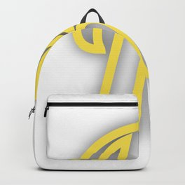 Letter K in Yellow Backpack