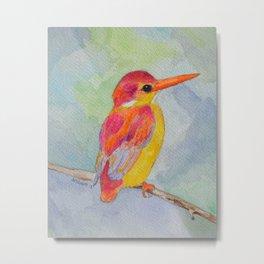 Rufous-backed Kingfisher Metal Print